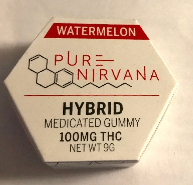 pure nirvana watermelon sativa medicated gummy woodland hills, ca