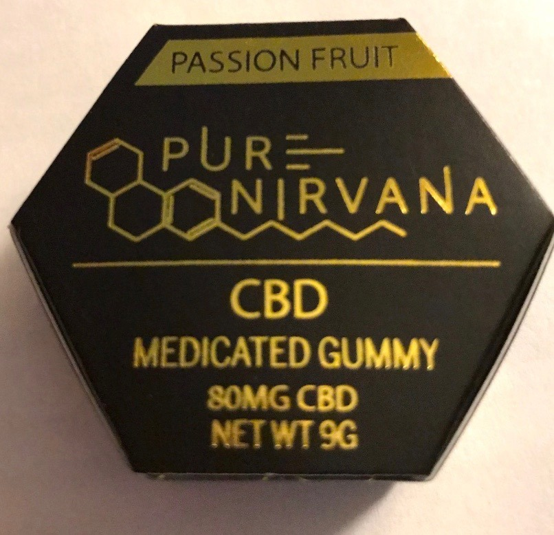 pure nirvana passion fruit cbd weed gummy woodland hills, ca